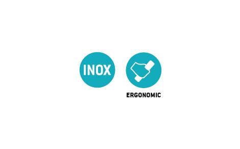 """FRATTONE INOX """"DURAFLEX"""" CON ANGOLI STONDATI 120X280 MM"""