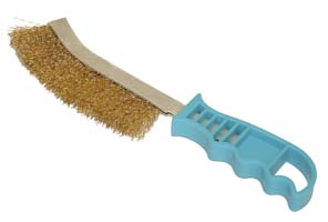 BRUSH WITH STEEL BRISTLES WITH SHORT HANDLE