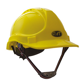 "PROFESSIONAL YELLOW SAFETY HELMET ""REGULAR"""