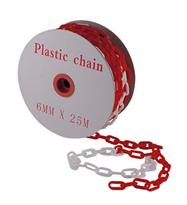 PVC CHAIN WHITE/RED DIAM. 6 mm