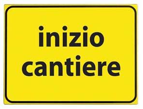 CARTELLO VTR INIZIO CANTIERE 60X40 cm