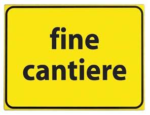 CARTELLO VTR FINE CANTIERE 60X40cm