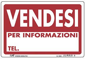 CARTELLO VENDESI 30X20  cm