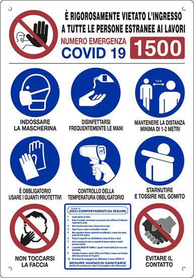 CARTELLO MULTISIMBOLO NORME COVID