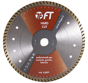 """Hard cut"" sintered continuous blades"