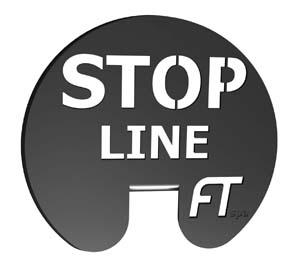 """""""STOP LINE"""" FERMO IN ACCIAIO INOX PER INTERRUZIONE TRATTA"""