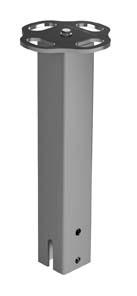 COLONNINA VERTICALE INOX UNI EN 795 – UNI 11578-C