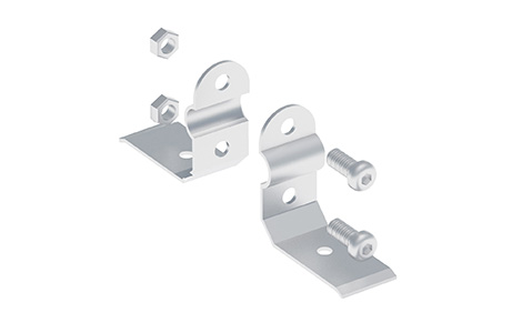 """END ANCHOR FOR MOUNTING THE TRACK """"SYSTEM RAIL"""" ON CONCRETE, IRON BEAM, ETC"""