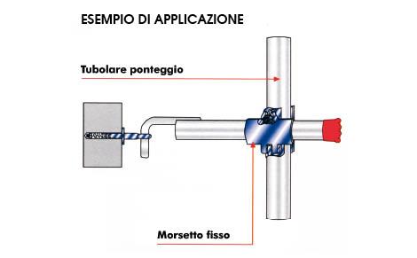 TUBOLAR ANCHORAGE FOR SCAFFOLDINGS DIAM.20 mm