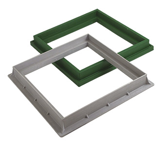 PP FRAME FOR COVER AND GRATING 20X20 cms