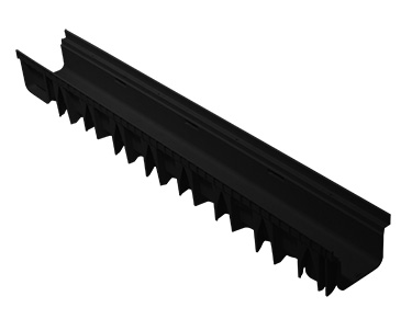 PP BLACK CHANNEL HEIGHT 5 cms