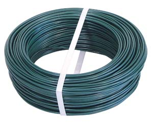 PVC COATED GALVANIZED WIRE 100 METERS; DIAM. 2,2-2,9 mm